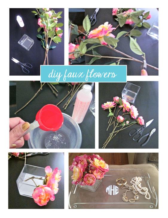 faux flower diy