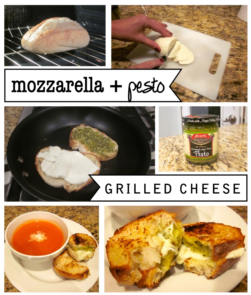 Mozzarella Pesto Grilled Cheese