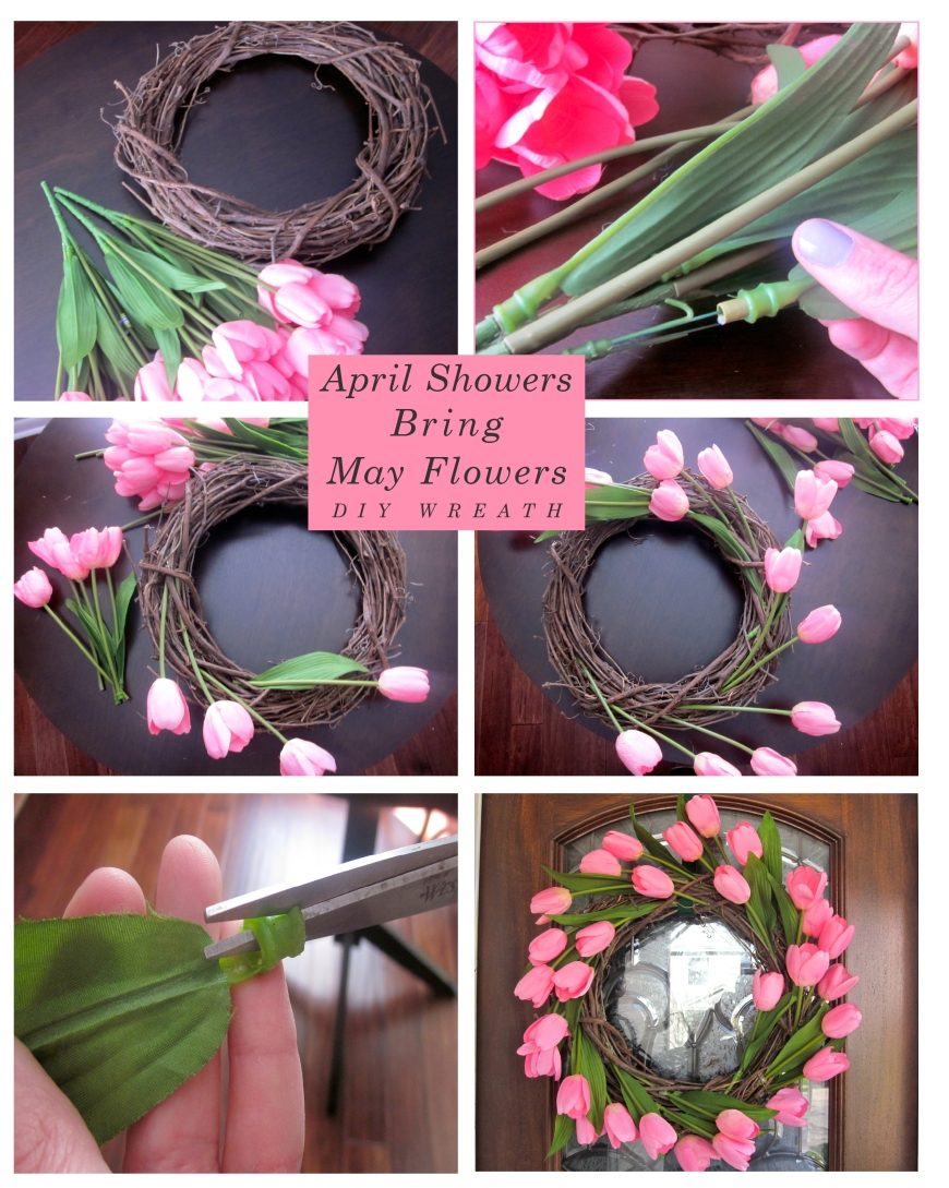 DIY Spring Flower Wreath