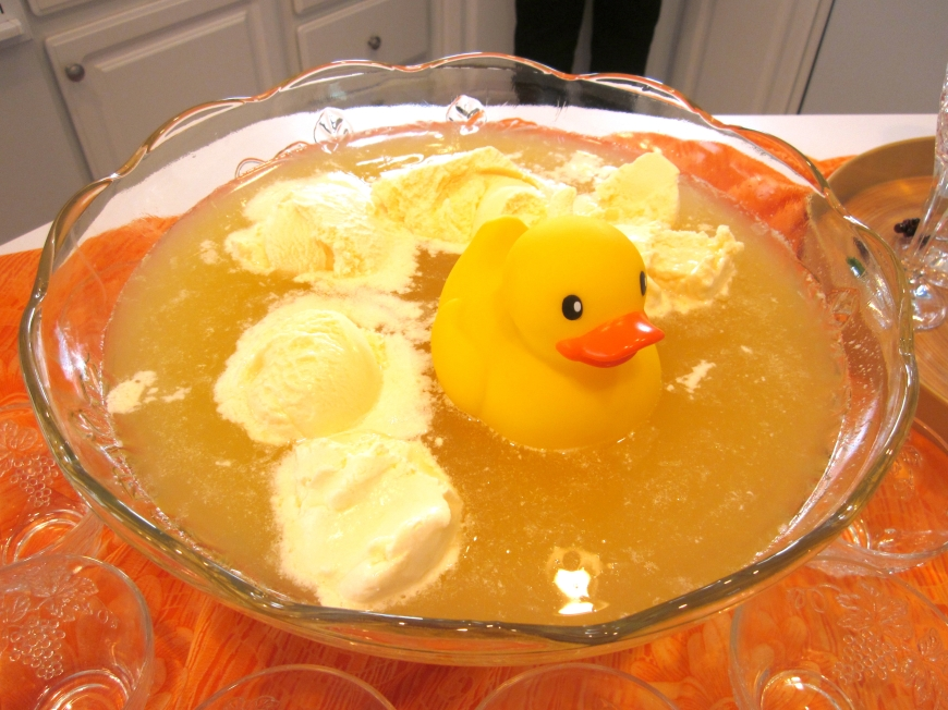 A swim in the sherbert punch...